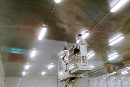 Painting walls, ceilings and baseboards of the food industry and health sectors, with foodgrade paint for direct and indirect contact with food and beverages.