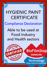 Declaration of compliance for Fakolith detergent cleaners,